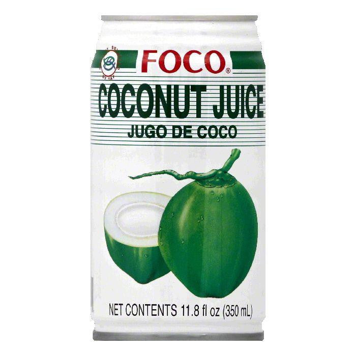 Foco Coconut Juice, 11.8 OZ (Pack of 24)