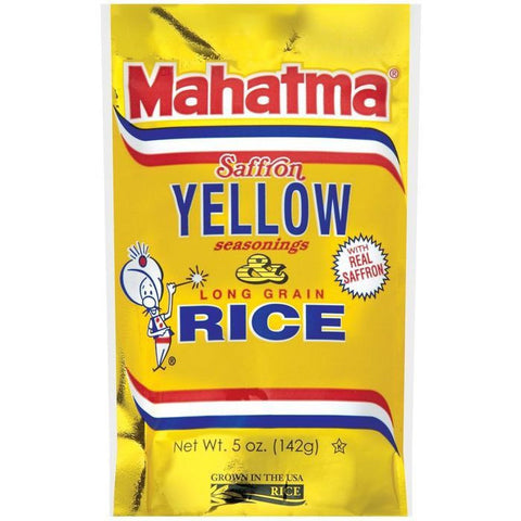 Mahatma Saffron Yellow Seasonings & Long Grain Rice 5 Oz (Pack of 12)