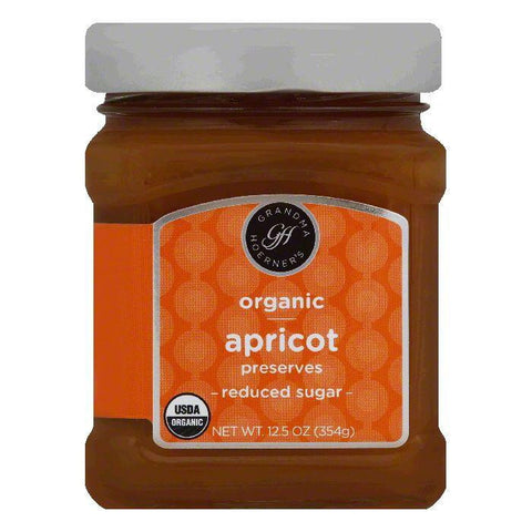 Grandma Hoerners Reduced Sugar Apricot Preserves, 12.5 OZ (Pack of 6)