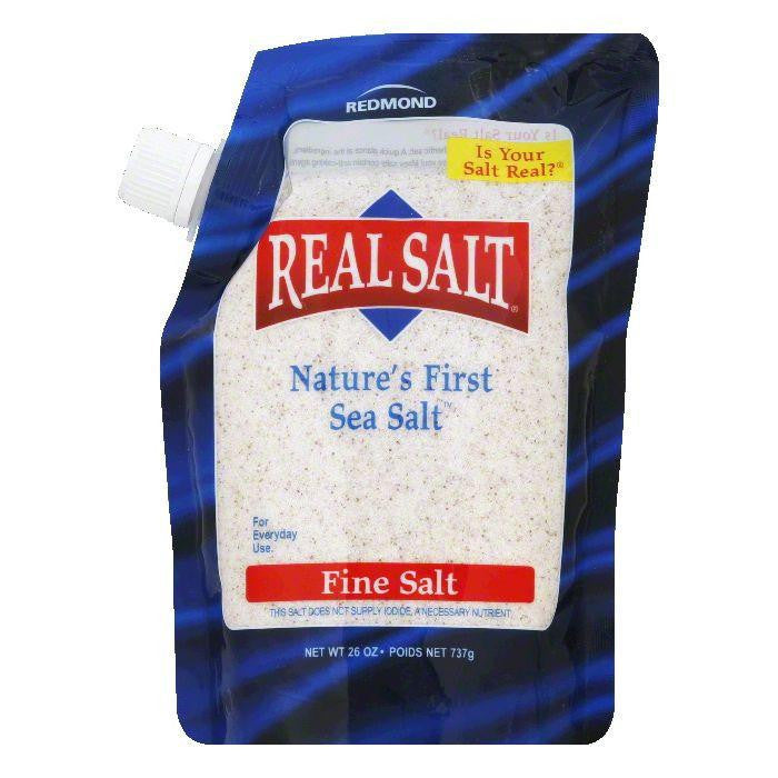 Redmond Fine Nature's First Sea Salt, 26 OZ (Pack of 6)