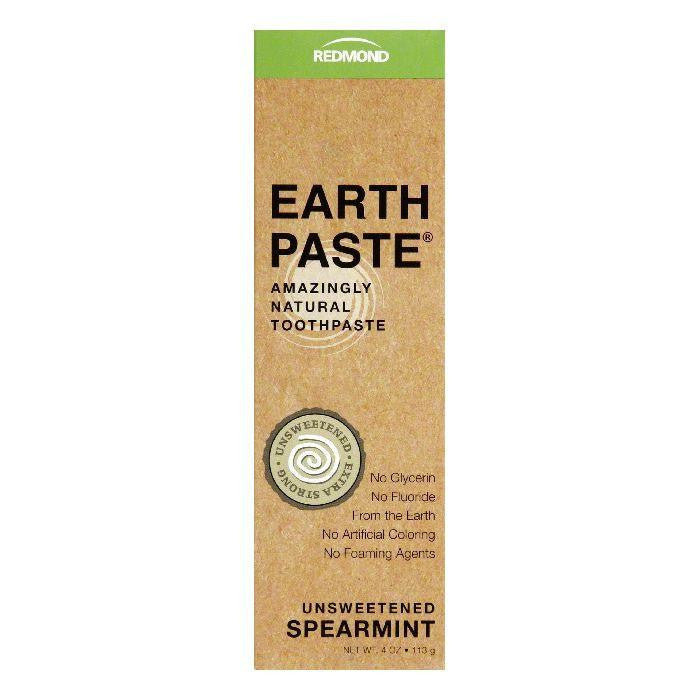 Earthpaste Unsweetened Spearmint Extra Strong Toothpaste, 4 Oz (Pack of 3)