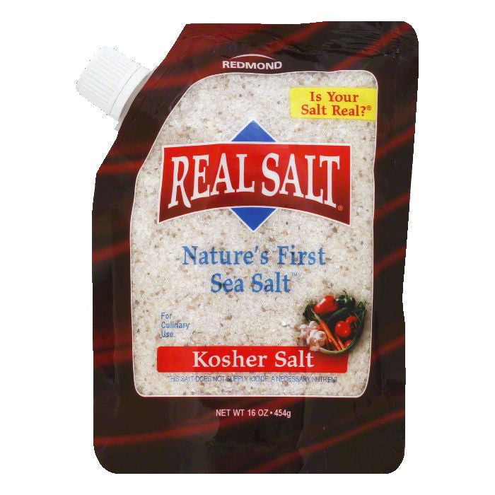 Redmond Kosher Salt, 16 OZ (Pack of 6)