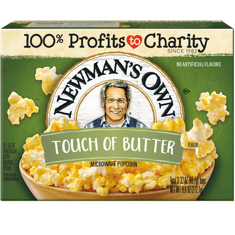Newmans Own Touch of Butter Microwave Popcorn, 3 ea (Pack of 12)