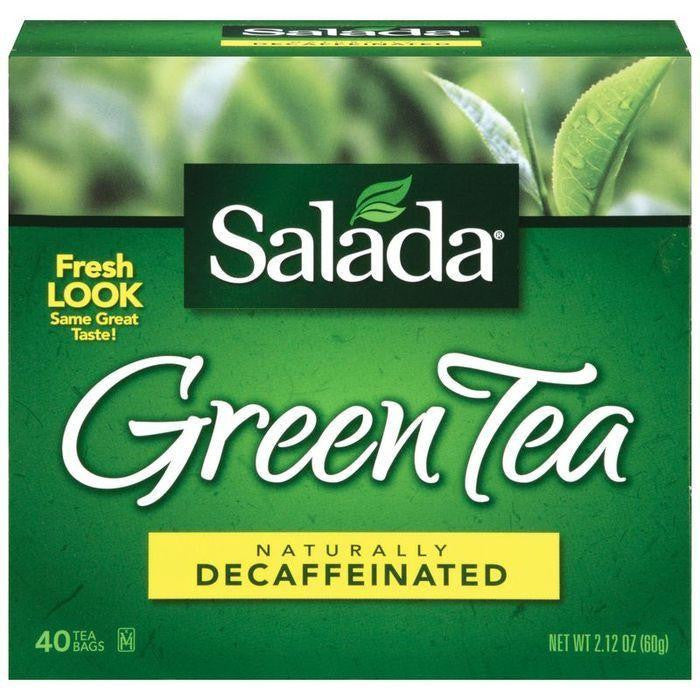 Salada Naturally Decaffeinated Green Tea Bags 40 ct (Pack of 6)