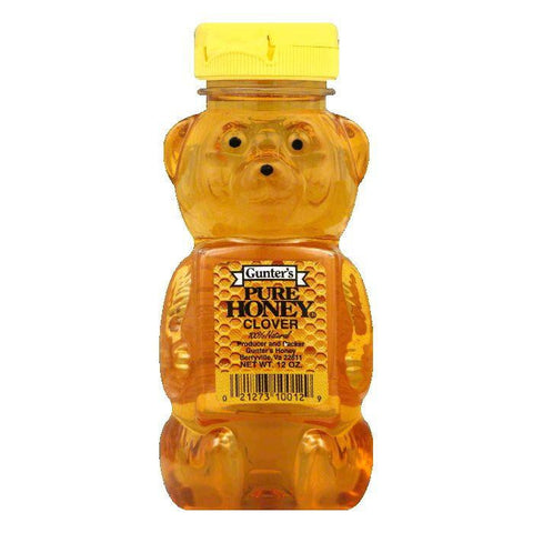 Gunters Clover Pure Honey, 12 Oz (Pack of 12)