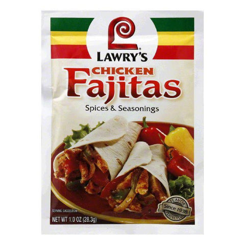 Lawry's Spices & Seasonings Chicken Fajitas, 1 OZ (Pack of 12)