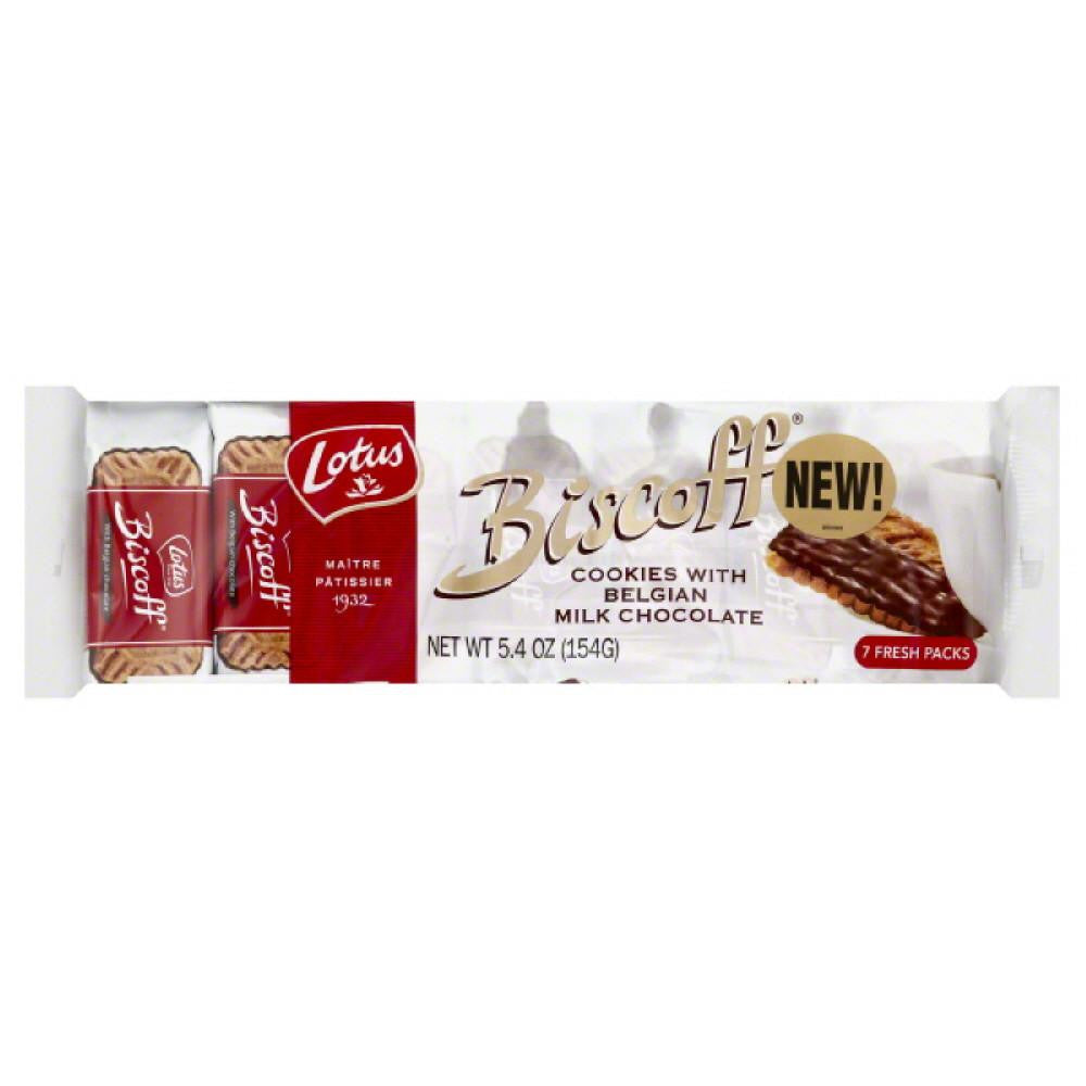 Lotus Cookies with Belgian Milk Chocolate, 5.4 Oz (Pack of 12)