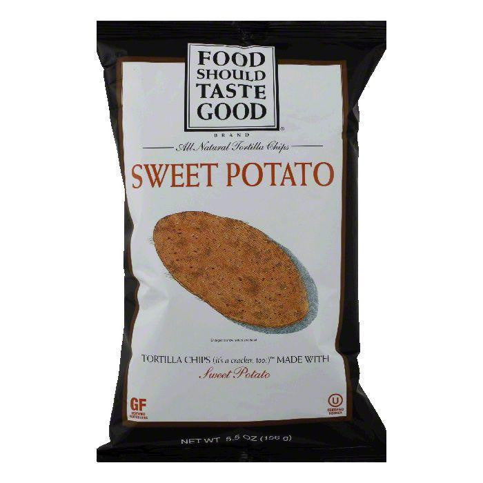 Food Should Taste Good Sweet Potato Tortilla Chips 5.5 Oz Bag (Pack of 12)