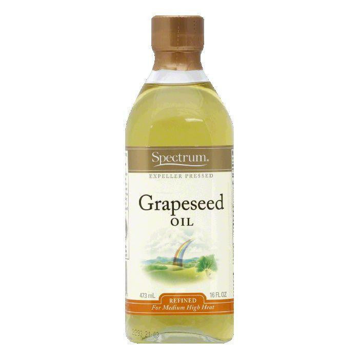 Spectrum Grapeseed Oil Refined, 16 OZ (Pack of 6)