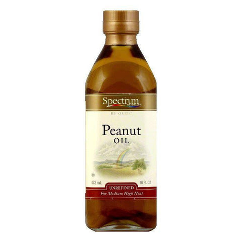 Spectrum Unrefined Peanut Oil, 16 FO (Pack of 6)