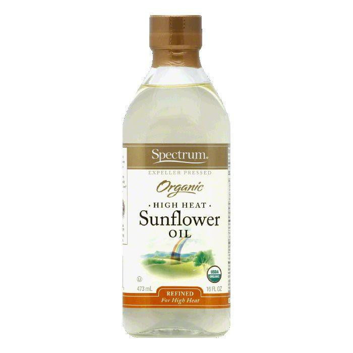 Spectrum Organic Semi Refined Sunflower High Oleic Oil, 16 OZ (Pack of 6)