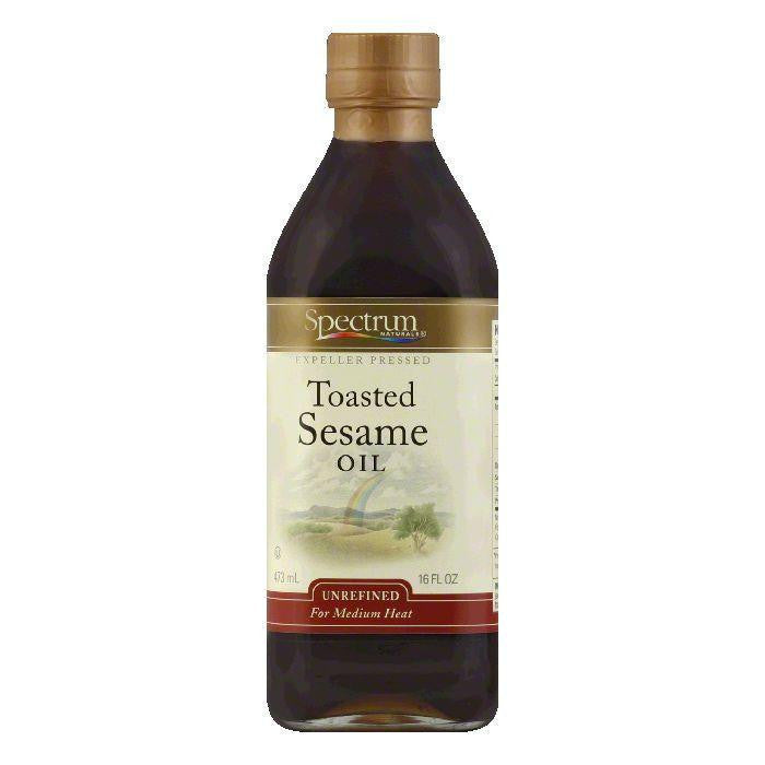 Spectrum Unrefined Toasted Sesame Oil, 16 OZ (Pack of 6)