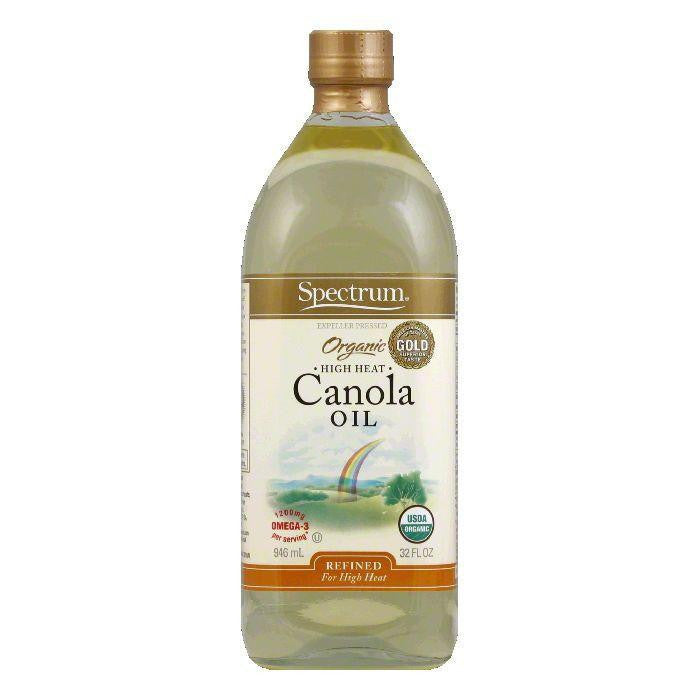Spectrum Canola Oil Organic Refined, 32 OZ (Pack of 6)