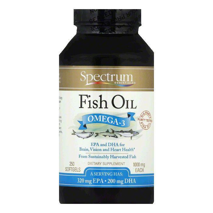 Spectrum Essentials Softgels 1000 mg Omega-3 Fish Oil, 250 ea