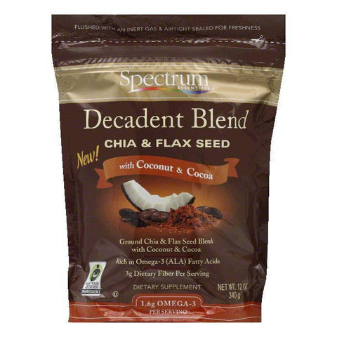 Spectrum Essentials with Coconut & Cocoa Chia & Flax Seed, 12 Oz (Pack of 3)