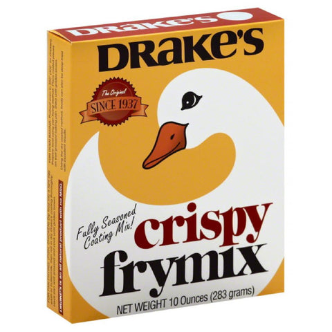 Drakes Crispy Fry Mix, 10 Oz (Pack of 12)
