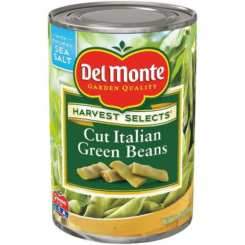 Del Monte Harvest Selects Cut Italian Green Beans 14.5 Oz (Pack of 12)