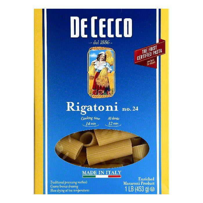 De Cecco No. 24 Rigatoni, 1 lb (Pack of 12)