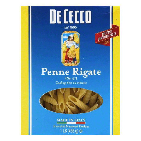 DeCecco Pasta Penne Rigate, 16 OZ (Pack of 12)