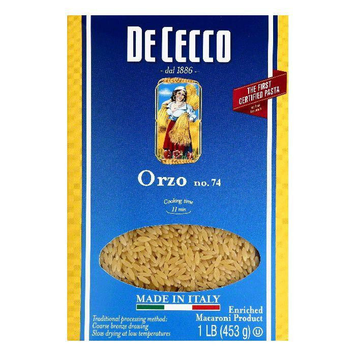 De Cecco No. 74 Orzo, 1 lb (Pack of 20)