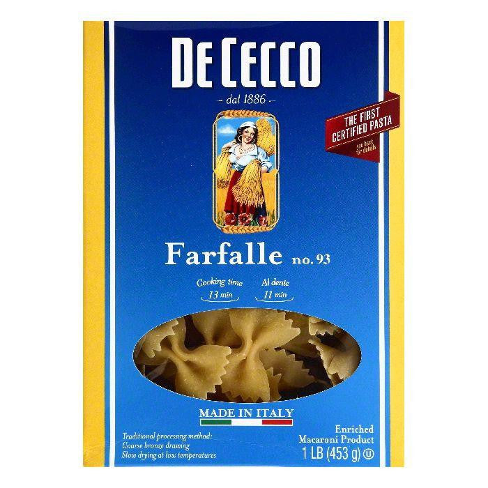 De Cecco No. 93 Farfalle, 1 lb (Pack of 12)
