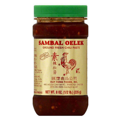 Huy Fong Sambal Oelek Ground Fresh Chili Paste, 8 OZ (Pack of 12)