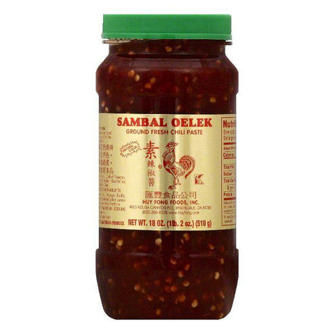Huy Fong Sambal Oelek Ground Fresh Chili Paste, 18 OZ (Pack of 6)