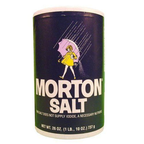 Morton Plain Salt 26 OZ POUR SPOUT (Pack of 24)