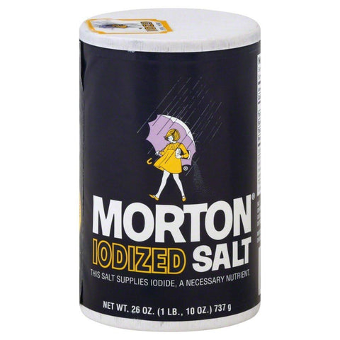 Morton Iodized Salt 26 OZ POUR SPOUT (Pack of 24)
