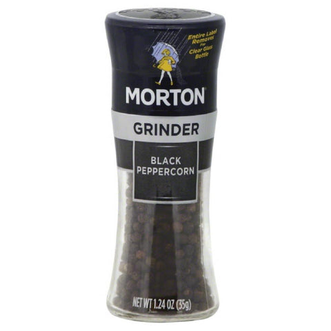 Morton Grinder Black Peppercorn, 1.24 Oz (Pack of 6)