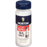 Morton Salt Mill Refill Sea Salt 14 Oz  (Pack of 12)