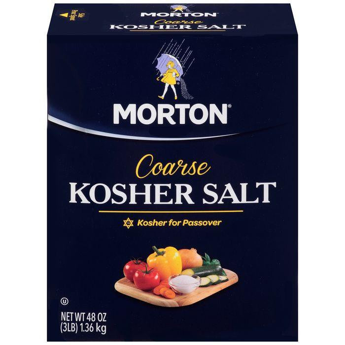 Morton Coarse Kosher Salt 3 lb. (Pack of 12)