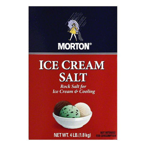 Morton Rock Salt / Ice Cream Salt, 4 LB (Pack of 8)