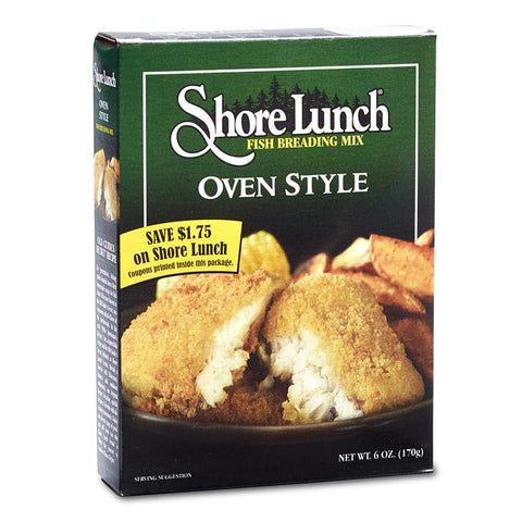 Shore Lunch Oven Style Fish Breading Mix, 6 OZ (Pack of 12)