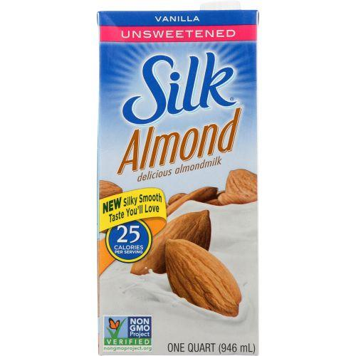 Silk Almondmilk Vanilla Unsweetened, 32 fl oz (Pack of 6)