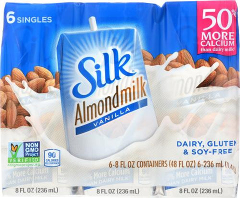 Silk Almondmilk Vanilla, 48 fl oz (Pack of 3)