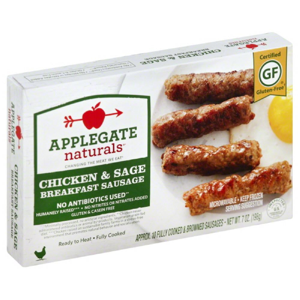 Applegate Chicken & Sage Breakfast Sausage, 7 Oz (Pack of 12)
