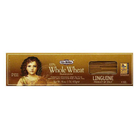 Gia Russa 2 100% Whole Wheat Linguine, 16 OZ (Pack of 20)