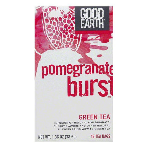 Good Earth Pomegranate Burst Green Tea 18 ct (Pack of 6)