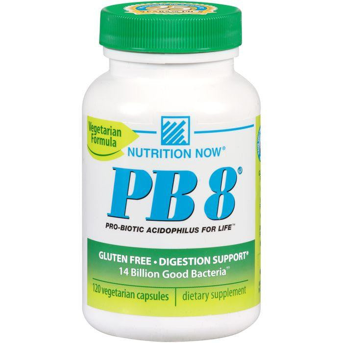 Nutrition Now PB 8 Vegetarian Formula Pro-Biotic Capsules 120 ct. Plastic
