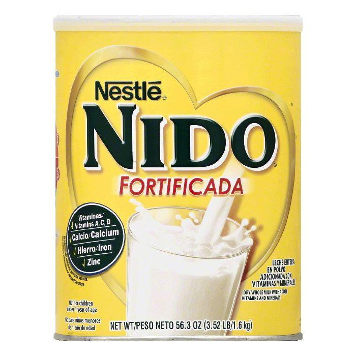 Nestle Nido Fortificada Whole Dry Milk, 56.3 OZ (Pack of 6)