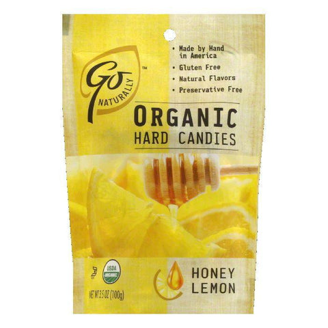 Go Naturally Organic Honey Lemon Hard Candy, 3.5 OZ (Pack of 6)