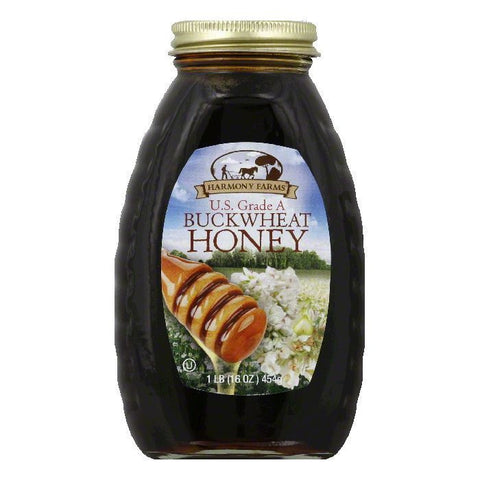 Harmony Farms Buckwheat Honey, 16 OZ (Pack of 6)