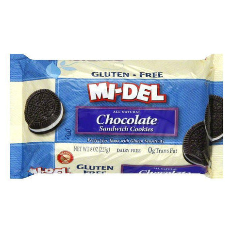 Mi del Gluten Free Chocolate Sandwich Cookies, 8 OZ (Pack of 12)