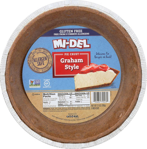 Mi del 9 Inch Gluten Free Graham Style Pie Crust, 7.1 Oz (Pack of 12)