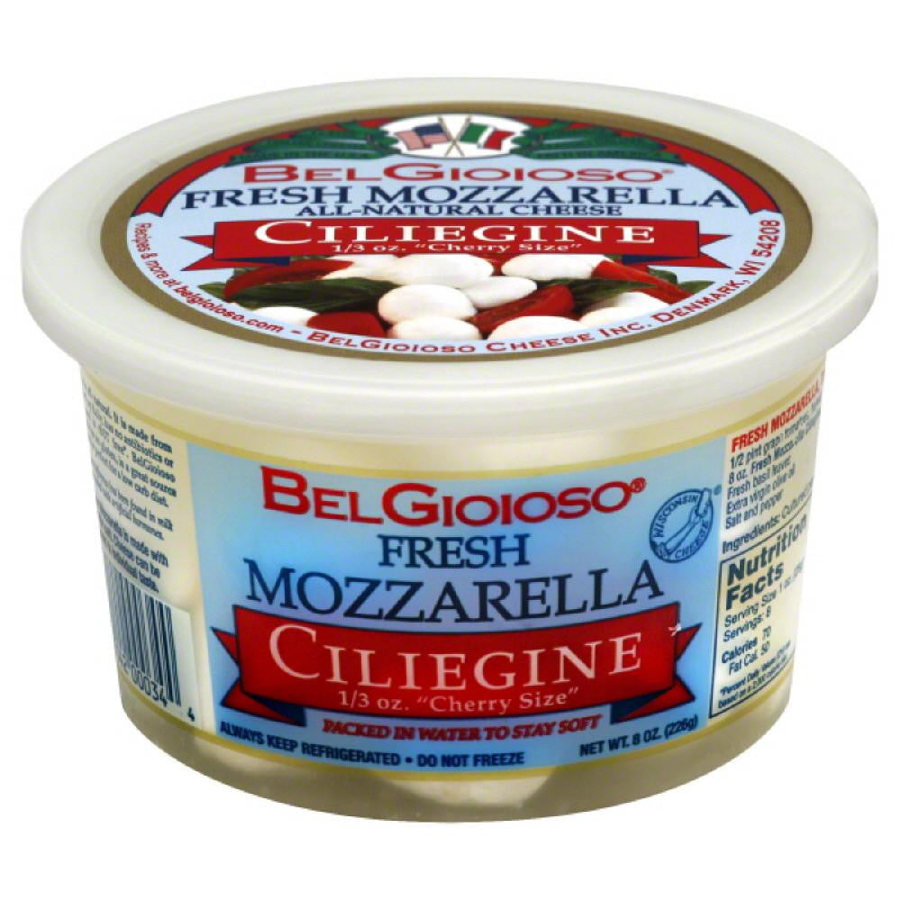 BelGioioso Ciliegine Fresh Mozzarella, 8 Oz (Pack of 6)