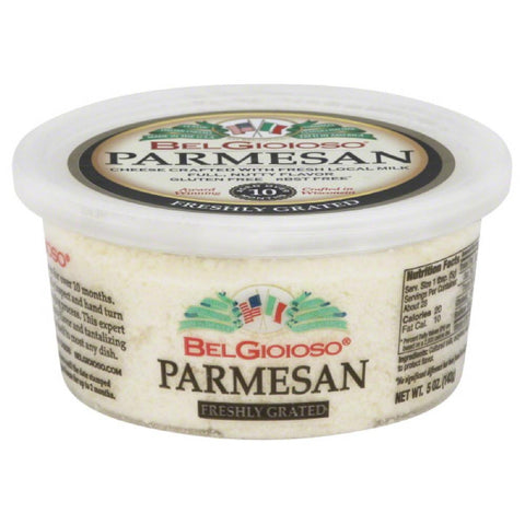 BelGioioso Parmesan Freshly Grated Cheese, 5 Oz (Pack of 12)