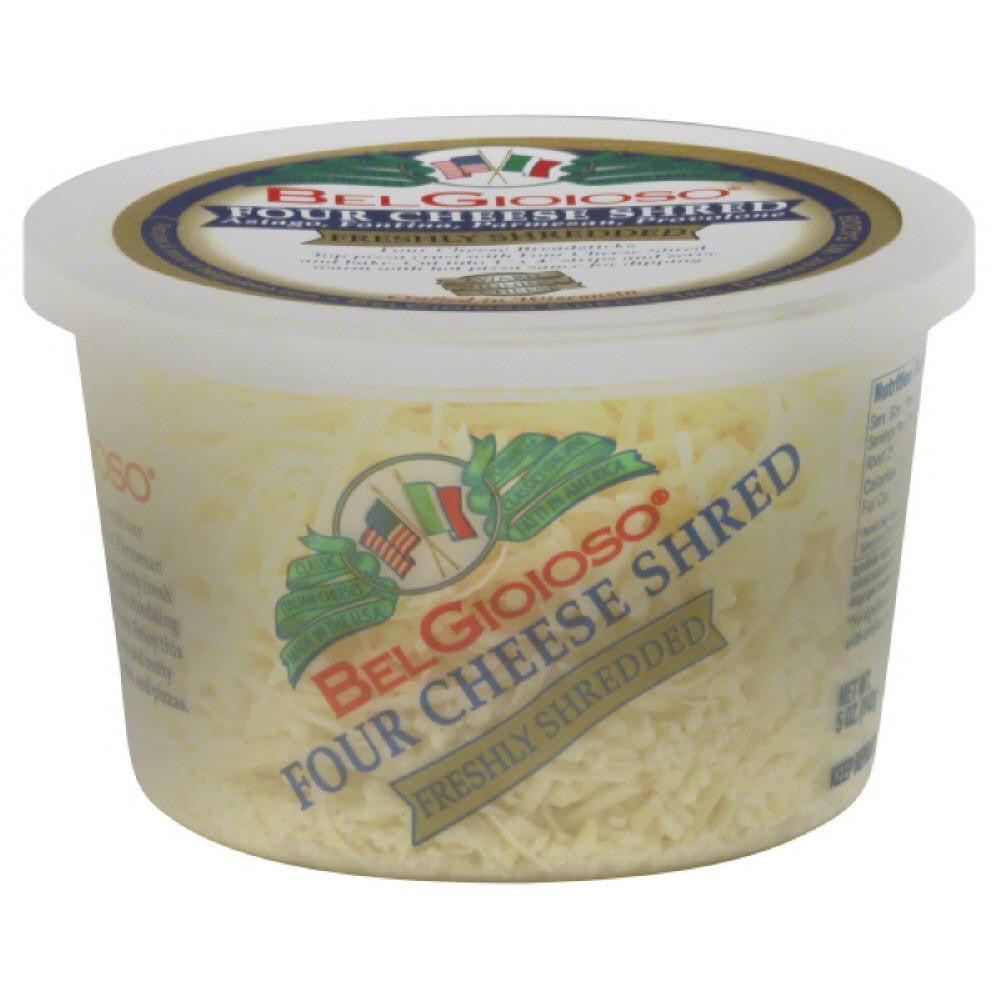 BelGioioso Four Cheese Cheese Shreds, 5 Oz (Pack of 12)