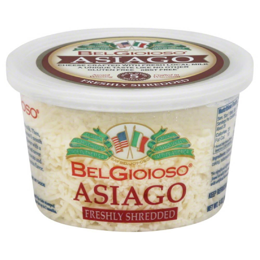 BelGioioso Asiago Freshly Shredded Cheese, 5 Oz (Pack of 12)