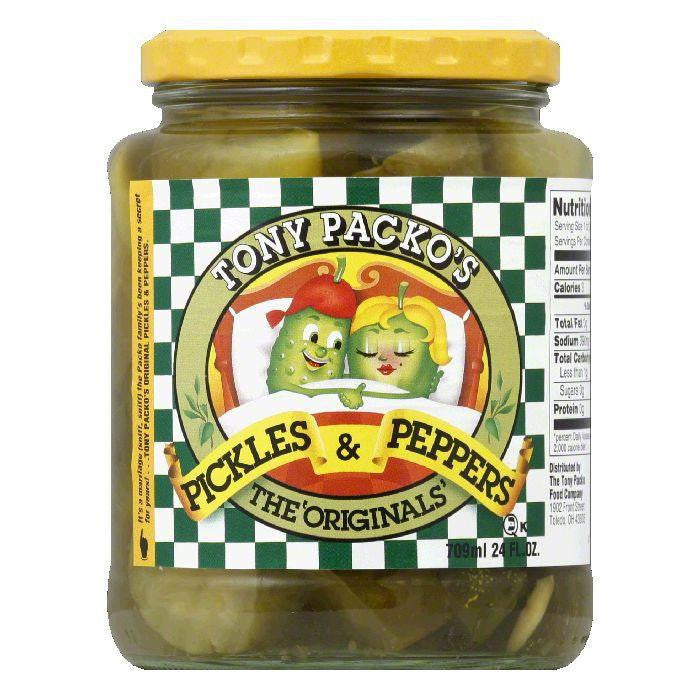 Tony Packo Original Pickles & Peppers, 24 OZ (Pack of 6)